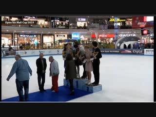 Церемония награждения танцевальных дуэтов  Open Ice Mall Cup 2019
