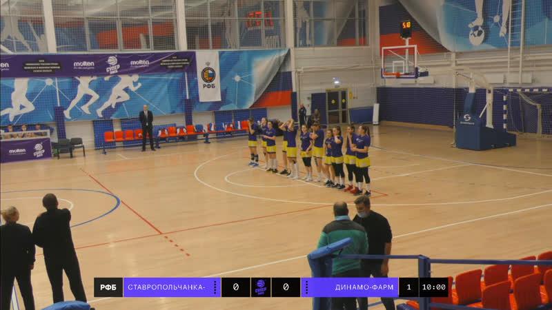 Баскетбол Суперлига 1 Ставропольчанка СКФУ vs Динамо Фарм