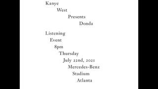 Kanye West Donda Listening Party