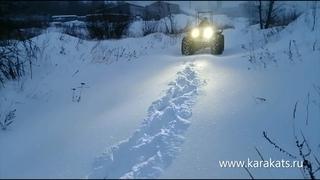 Лыткаринский каракат Скиф 460 по снегу в минус 20