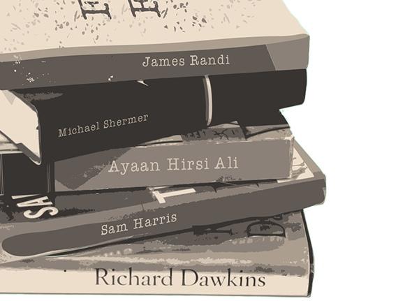 Книги: Джеймс Рэнди, Майкл Шермер, Сэм Харрис, Ричард Докинз, Айаан Хирси Али