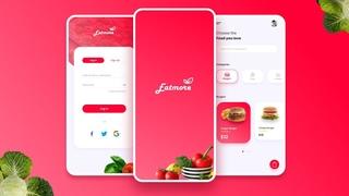 Food App Design   UX/UI ( Wireframe, Prototype, Export)