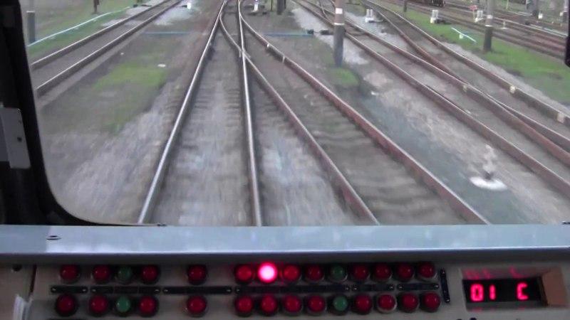 Бахмут - Зовная на электровозе ДЭ1-028