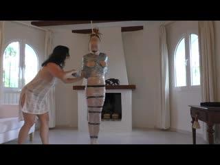 Pantyhose_Encasement_and_Tape_Mummification_for_sexy_Muriel_LaRoja