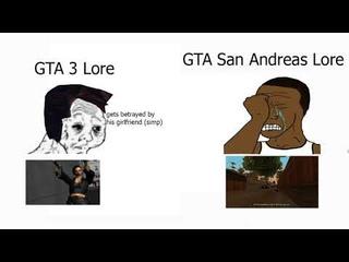 gta 3 lore vs gta san andreas lore