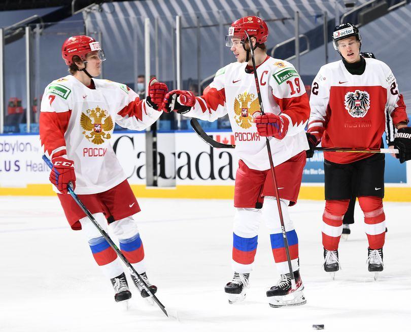 Россия разгромила Австрию на МЧМ по хоккею (Видео)