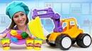 Игры в МАШИНКИ для детей - Готовлю игрушкам пельмени машинкам из Плей До. Видео про игрушки машинки