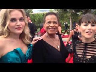 Madeline Brewer, Michelle Hurst, Yael Stone ('OITNB') on Emmys red carpet