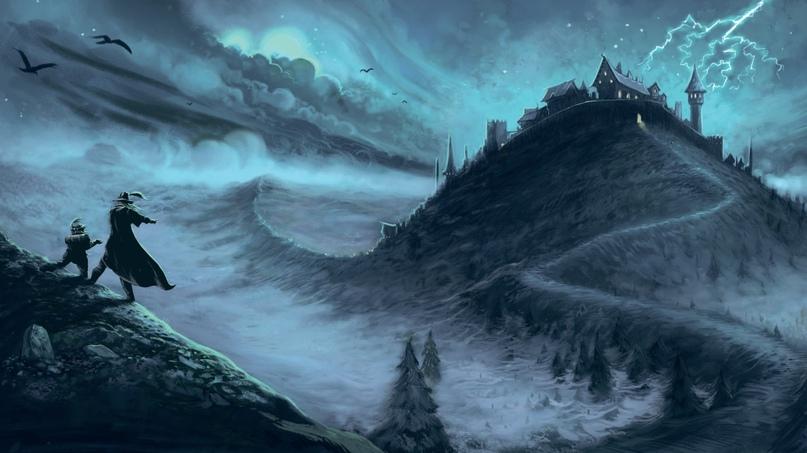 Скалы, холмы, долины и леса — типичный пейзаж Предгорий, где расположено герцогство Убершрайк.