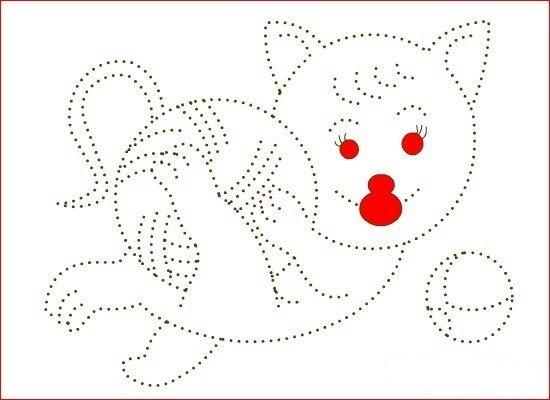РАСКРАСКИ-ОБВОДИЛКИ 1. Дайте ребенку карандаш, чтобы он обвел по точкам, а потом можно раскрасить картинку.2. Сделайте заготовку. Распечатайте картинку и наклейте пластилин на контур рисунка.