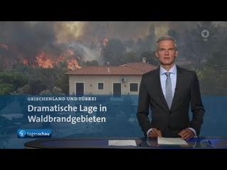 tagesschau 20:00 Uhr, : Waldbrände in Griechenland und der Türkei