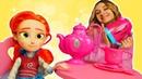 Игры для девочек - Распаковка игрушек с Машей - ФЕЕРИНКИ. Детский набор набор посуды для кукол