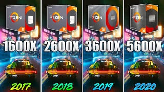 Ryzen 5 1600X vs 2600X vs 3600X vs 5600X - How Big is the Difference?
