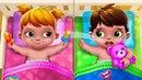 Уход за малышами Макс и Катя - Близнецы для Мамы. Baby Twins