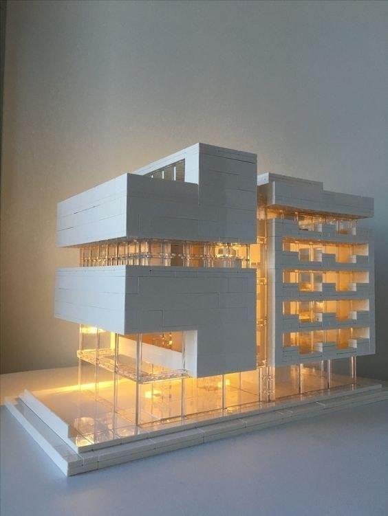 Архитектурные макеты собранные из кубиков Лего!