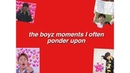 The boyz moments that i often ponder upon,, yes it's mainly crack