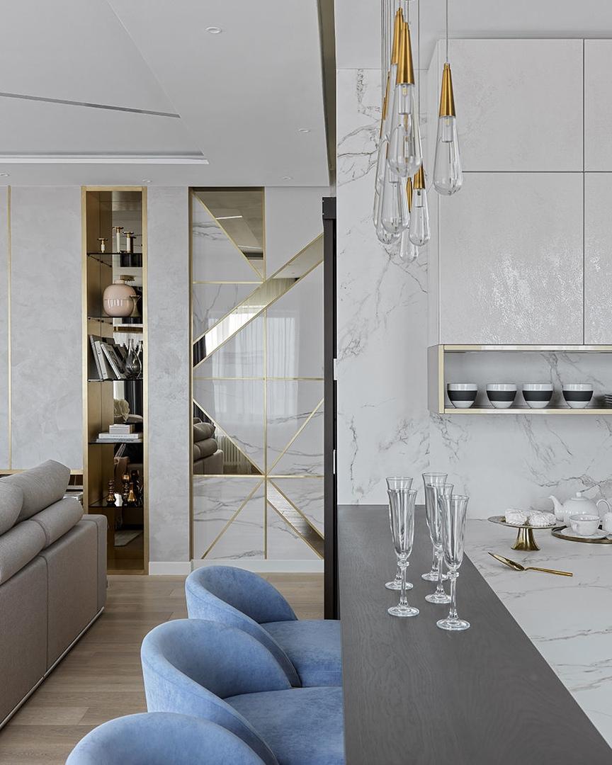 Rubleva Design: объединение трех квартир в ЖК Union Park || 01