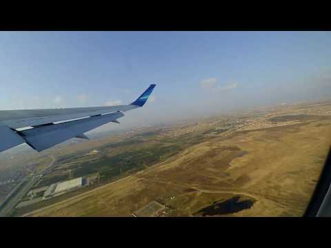 Взлёт из Баку и полёт над Каспийским морем