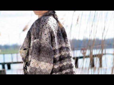 Crochet pattern for coat - Hæklemønster til frakke - نمط الكروشيه للمعطف