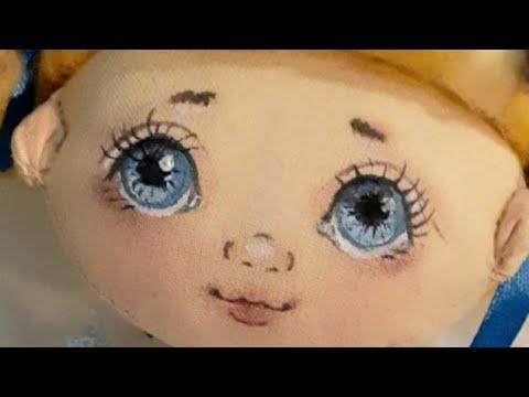 Рисуем лицо кукле Кукла в смешанной технике Часть 4 Лицо текстильной куклы