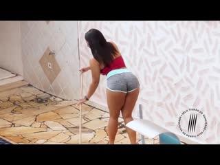 Трахает пышную соседку в анал, busty latin ebony milf girl tit boob ass anal sex porn pawg twerk love pussy game (Hot&Horny)