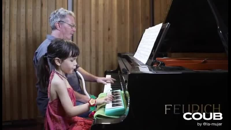 Moon River by 5 years old Emilie and her father Paul Barton