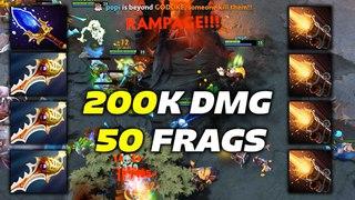 Sniper 200K DMG 50 Frags Hard Game Dota 2