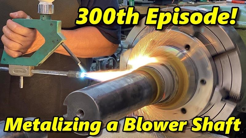 SNS 300 Spray Welding a Blower Shaft