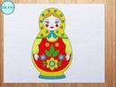 How to draw Matryoshka (Russian Doll)