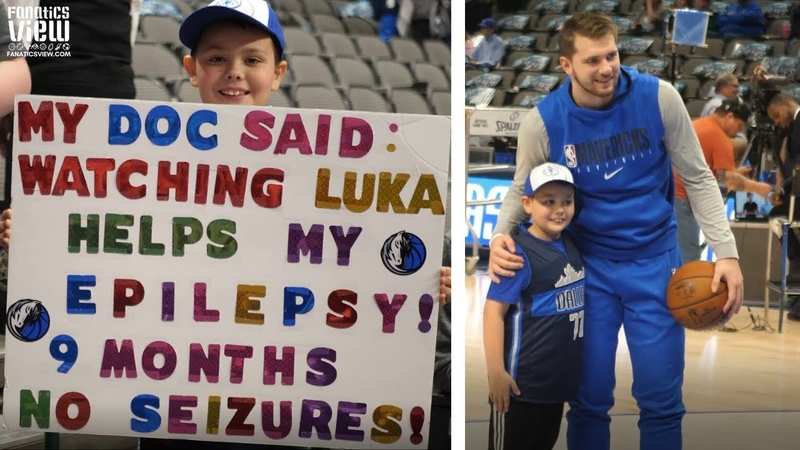 Luka Doncic Meets Young Mavs Fan, Credits Luka for Curing Epilepsy Stopping Seizures!