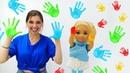 Маленькие Барби испачкались в краске. Игры для девочек. Видео про кукол