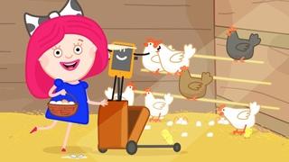 Мультики для девочек - Смарта и чудо-сумка - Яйцо или курица? Смарта идет в курятник