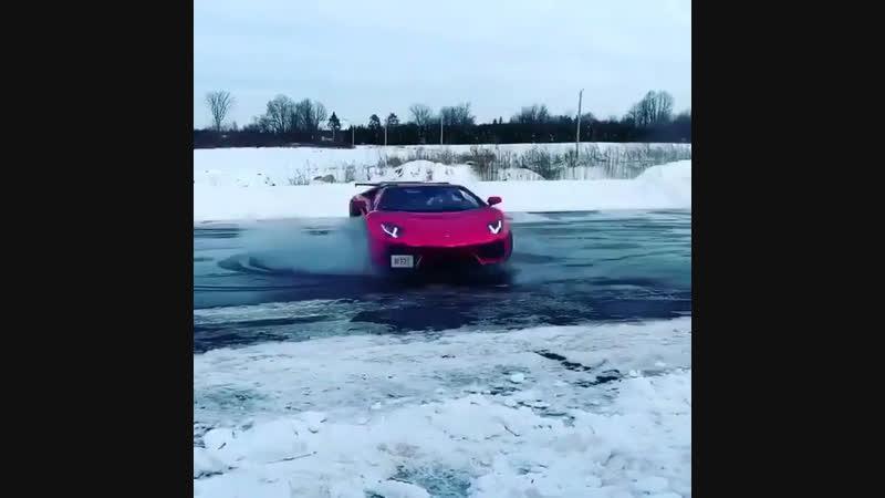 Авентадор на льду