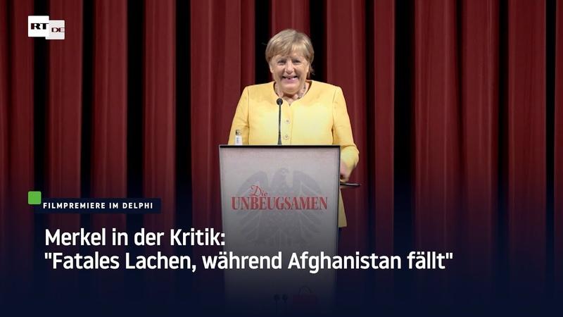 Merkel in der Kritik Fatales Lachen während Afghanistan fällt