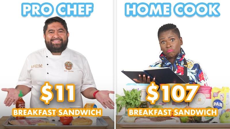 $107 vs $11 Breakfast Sandwich Pro Chef Home Cook Swap Ingredients Epicurious
