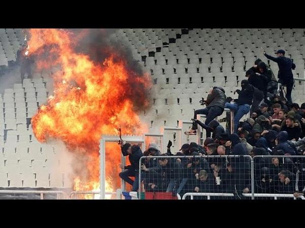 АЕК Аякс беспорядки на стадионе