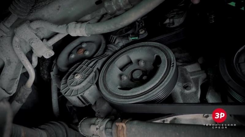 Ситроен С4 (Citroen C4) замена приводного (ручейкового) ремня своими руками
