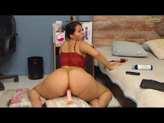 Big ass horny latina rides dildo - big ass butts booty tits boobs bbw pawg curvy mature milf