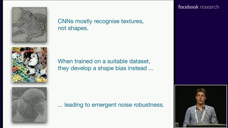 Robert Geirhos ImageNet trained CNNs are biased towards texture ICLR 2019 talk