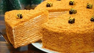 САМЫЙ ВКУСНЫЙ Торт МЕДОВИК! Тающий во рту МЕДОВЫЙ ТОРТ Рецепт | Кулинарим с Таней