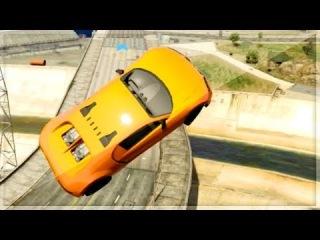 """GTA 5 Funny Moments - ESCAPE FROM THE GTA 5 KOPS! - """"GTA V Online Stunts"""""""
