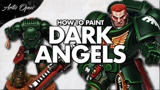 How to paint DARK ANGELS - Space Marine Painting Tutorial