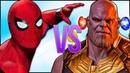 ЧЕЛОВЕК ПАУК VS ТАНОС СУПЕР РЭП БИТВА Spiderman ПРОТИВ Thanos Avengers