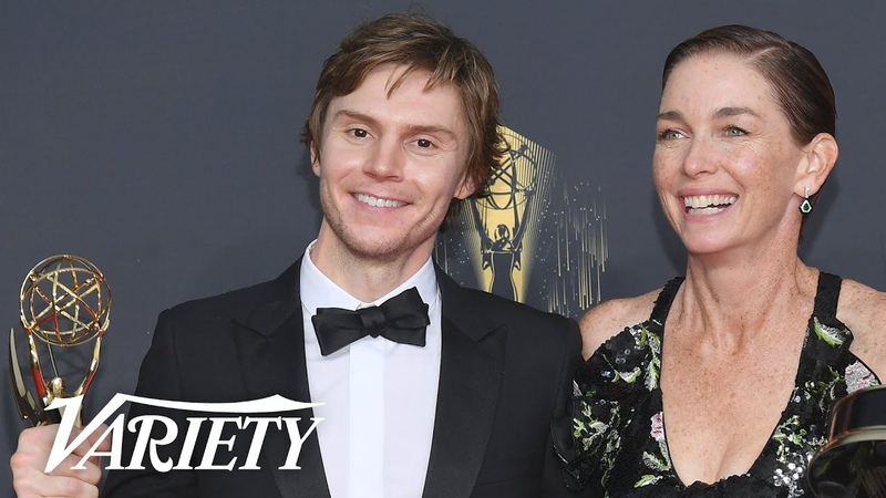 Emmy Winners Evan Peters Julianne Nicholson Celebrate 'Mare of Easttown' Co Star Kate Winslet