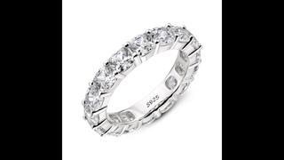 Женские обручальные кольца из 925 пробы серебра, обручальное кольцо высшего класса с цирконием
