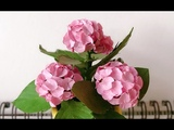 ABC TV How To Make Miniature Hydrangea Paper Flower With Shape Punch - Craft Tutorial