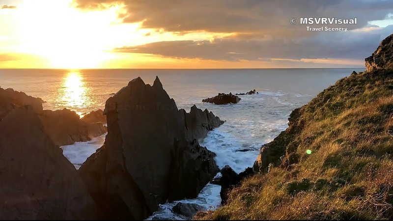 Hartland Devon Sunset Time Lapse In 4K