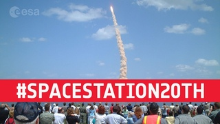 ESA astronauts celebrate 20 years on the International Space Station