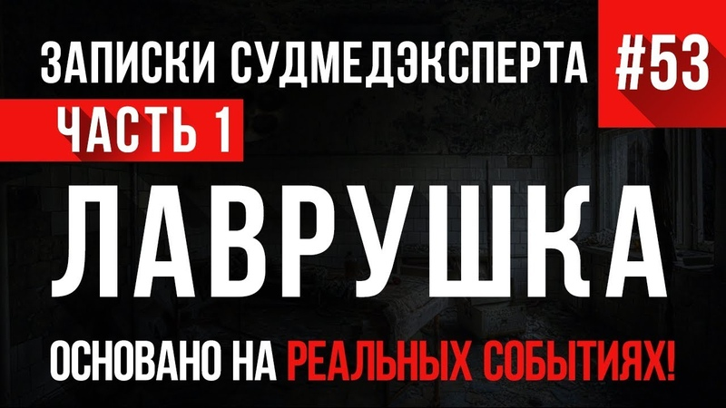 «Лаврушка» (часть 1) Записки Судмедэксперта 53 18