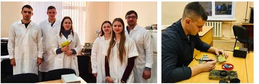 Участники студенческой научно-исследовательской лаборатории «ИнТех» (ОмГТУ)